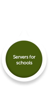 Installation and support for separate or consolidated administration and curriculum servers